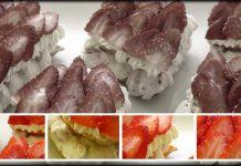 Milhojas de fresas con su chantillí