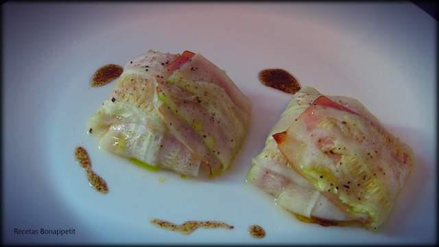 Ravioli de calabacín y huevo de caserío
