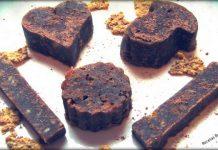 Turrón de cacao y avena