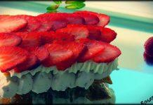 Milhojas de fresas
