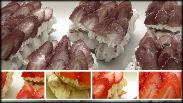 Milhojas de fresas con su chantillí recetasbonappetit