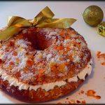 Roscón de Reyes de cacao relleno de chantillí.