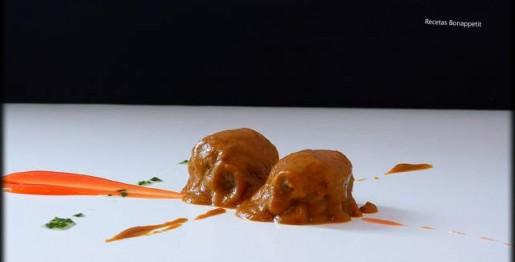 Carrilleras a la sidra con compota de ciruelas por Recetas Bonappetit