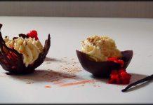 Fresas con ganache de chocolate blanco