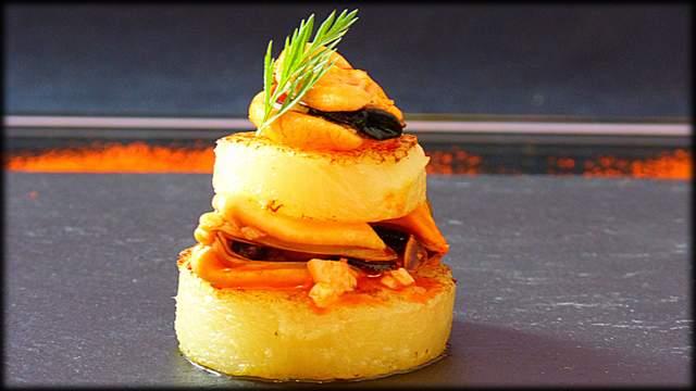 Patatas con mejillones en escabeche casero