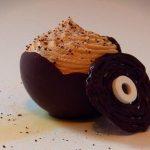 mousse de chocolate blanco y capuccino
