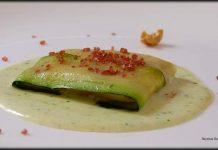 Ravioli de calabacín y queso fresco