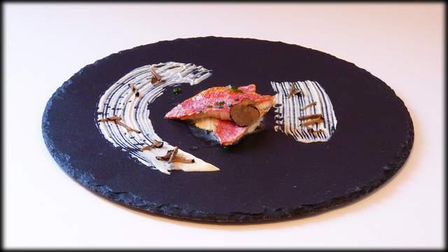 Salmonetes con mahonesa de trufa