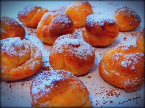 Petit choux rellenos de crema de limón by recetasbonappetit