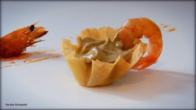 pasta filo de langostinos y mejillones por Recetas Bonappetit