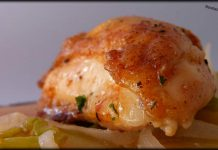 Pollo asado al horno.