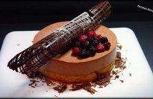 tarta de mousse de chocolate negro