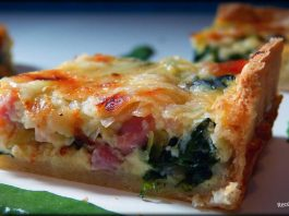 quiche de espinacas y bacon.