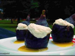 Brevas rellenas de queso mascarpone