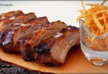 Costilla de cerdo marinada en salsa barbacoa