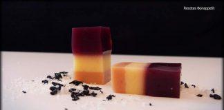 Gelatina de vino tinto,manzana y bloc de foie