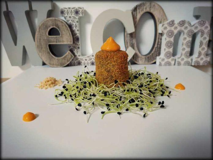 croquetas de maíz y morcilla