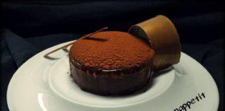 tarta de chocolate blanco y naranja